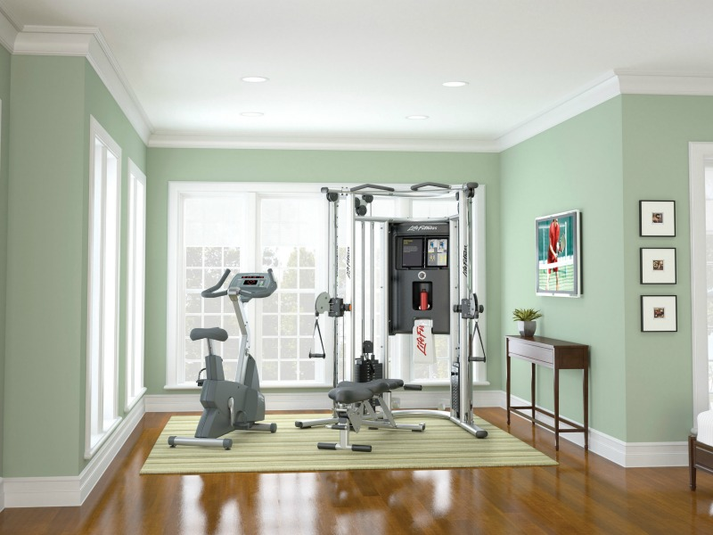 G cable motion home gym life fitness